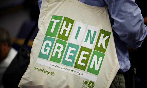 A delegate's bag during Green Party conference