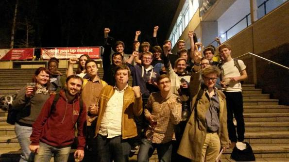 Palestine Solidarity Campaign UEA, after Union of UEA Students votes to back BDS.