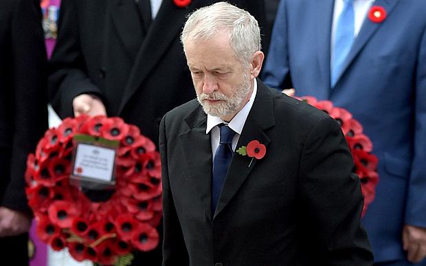 ( Jeremy Corbyn on Remembrance Sunday 2015 © Telegraph )