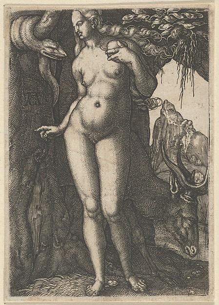 ( Eve With Stag, Heinrich Aldegrever )
