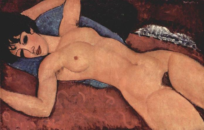 (Reclining Nude, Amedeo Modigliani)
