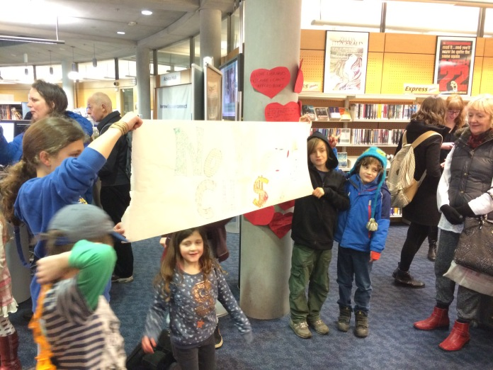 ( No Cuts to Norfolk Library Services Action © Rowan Whiteside )