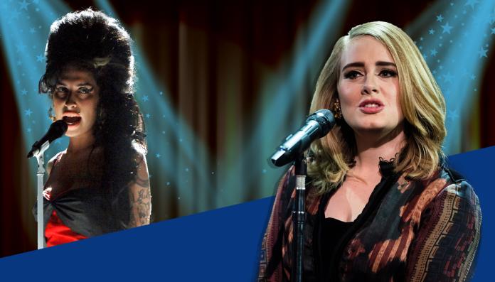 ( Amy Winehouse vs Adele © Metro.co.uk )