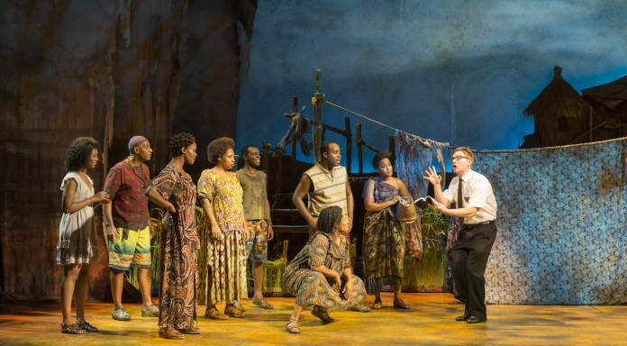 ( London cast of Book of Mormon © Bookofmormonlondon.com )