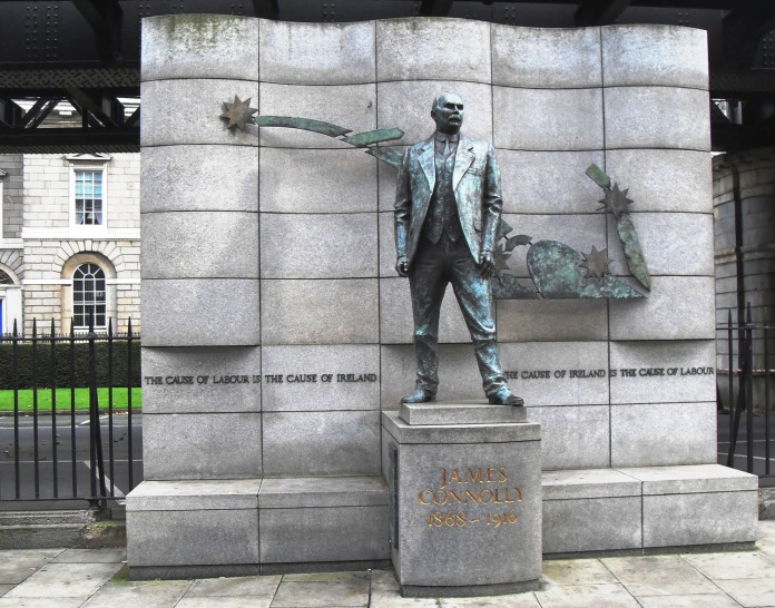 ( James Connolly Memorial, Dublin © irishamerica.com )