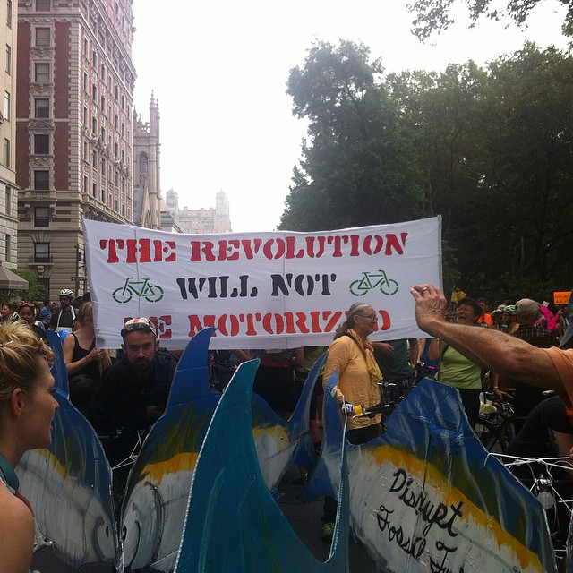 ( NYC climate march protest sign, 2014 @margogrego )