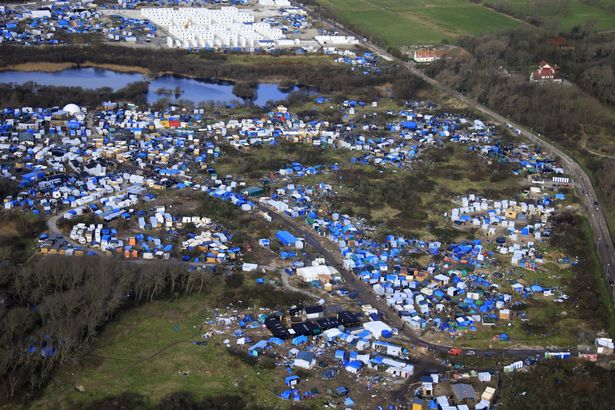 aerial-view-of-a-makeshift-camp
