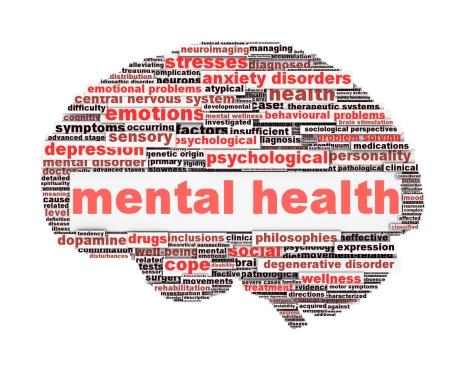 Mental health symbol conceptual design isolated on white background. Psychological trauma symbol design
