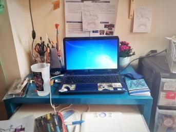 Sara's desk