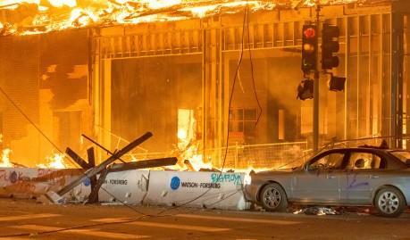 riot fire blm chad davis