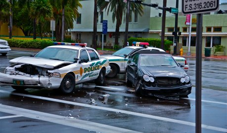 police miami car crash