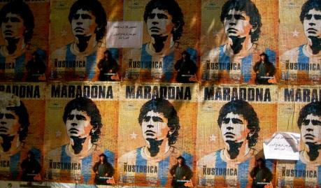 maradona obituary posters